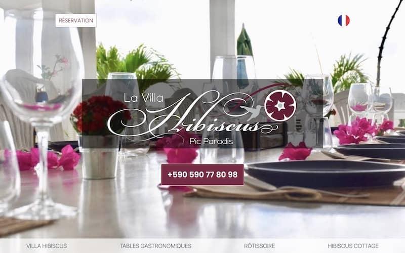 Site web: vitrine et réservation